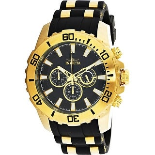 Link to Invicta Men's Pro Diver  Gold Silicone Japanese Quartz Diving Watch Similar Items in Men's Watches