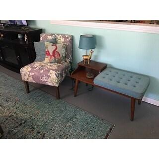Carson Carrington Mid-century Style Tufted Telephone Bench Teal