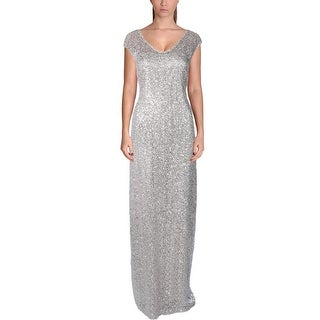 Kay Unger New York Womens Evening Dress Lace Sequined