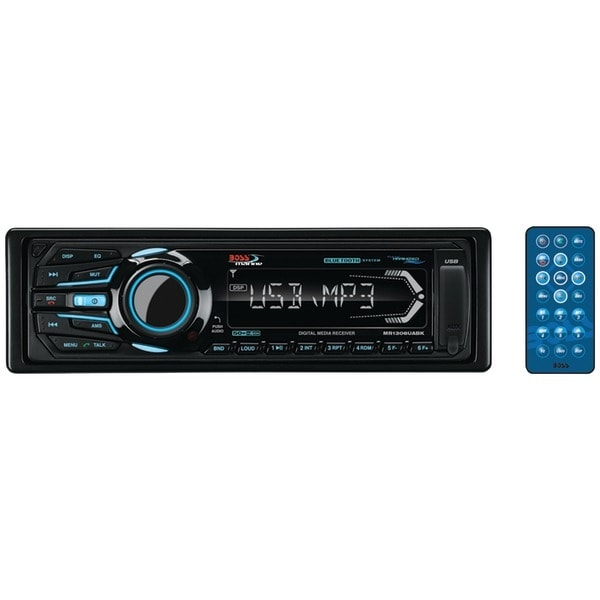 BOSS AUDIO MR1308UABK Marine Single-DIN In-Dash Mechless AM/FM Receiver with Bluetooth(R) (Black)