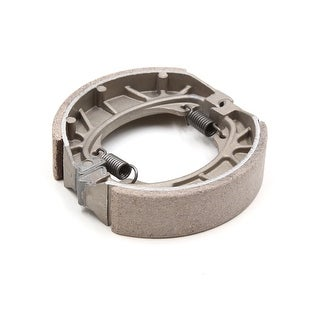 Silver Tone Metal Motorcycle Scooter Spring Brake Shoes Drum Pad For CG125