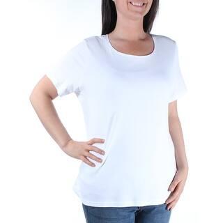 bab96cd75ad KAREN SCOTT Womens Blue Cuffed Tribal Short Sleeve Jewel Neck Top Size  XS.  SALE. Quick View