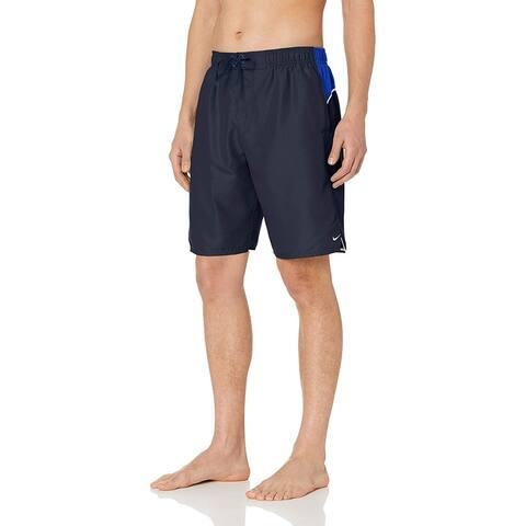 "Nike Swim Men's Color Surge 9"" Volley Short Swim Trunk, Obsidian, Medium"