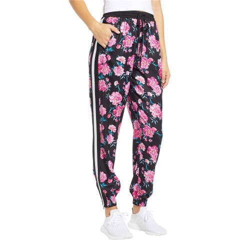 Kendall Kylie Womens Printed Varsity Casual Jogger Pants, Multicoloured, X-Small