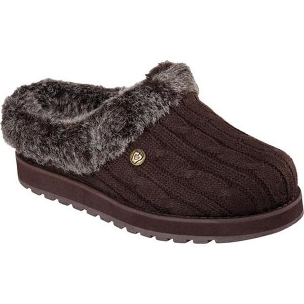 00606af6d8ae Skechers Women  x27 s BOBS Keepsakes Ice Angel Clog Slipper Chocolate