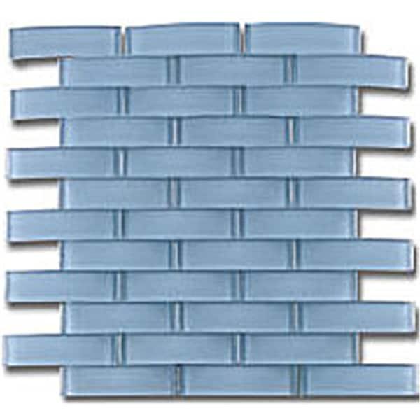 """TileGen. Arched Bridge 3D 1"""" x 4"""" Glass Mosaic Tile in Powder Blue Wall Tile (6 sheets/5.76sqft.)"""