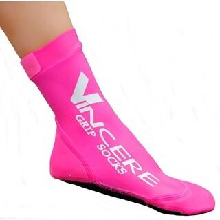 Sand Socks Grip Bottom Neoprene Athletic Socks - Pink