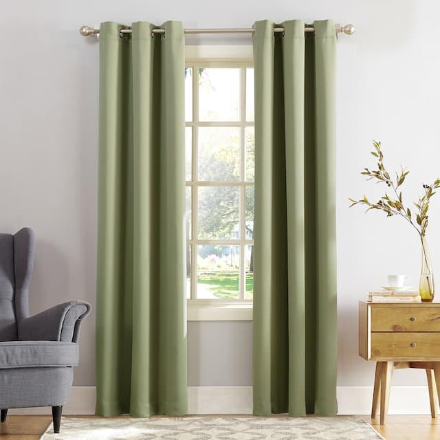 Sun Zero Hayden Energy Saving Blackout Grommet Curtain Panel, Single Panel - 54 x 95 - Sage Green