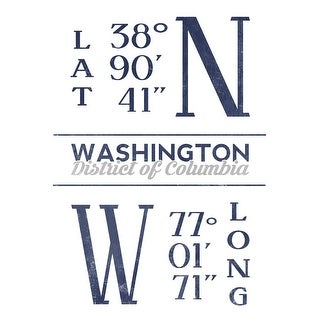 Washington DC Latitude & Longitude LP Artwork (Art Print - Multiple Sizes)