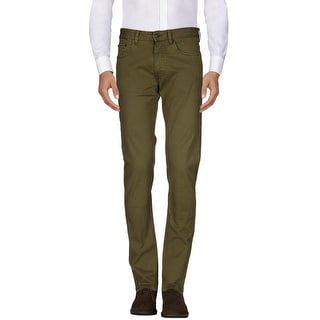 Polo Ralph Lauren Straight Fit Stretch Cotton Blend Jeans Olive Green 30 x 30