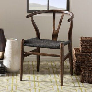 Link to 2xhome Woven Wood Armchair with Arms Open Back Mid Century Modern Office Dining Chairs Woven Black Seat Similar Items in Dining Room & Bar Furniture