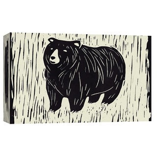 "PTM Images 9-103697  PTM Canvas Collection 8"" x 10"" - ""Bear Linocut"" Giclee Bears Art Print on Canvas"
