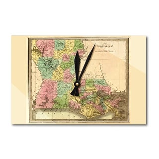 Louisiana - (1848) - Panoramic Map (Acrylic Wall Clock)