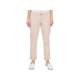 Tommy Hilfiger Womens Hampton Chino Pants Straight Leg Weekend