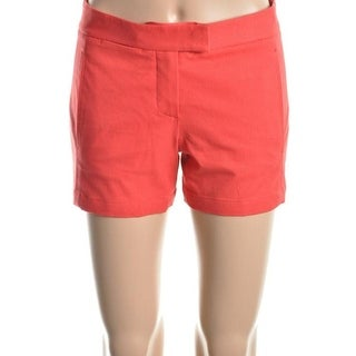 Theory Womens Noalda Flat Front Extended Tab Casual Shorts - 0