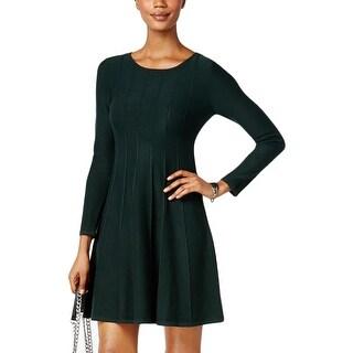 Jessica Howard Womens Petites Sweaterdress Pull Over Pintuck