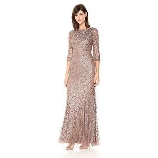 Shop Adrianna Papell Women S Long Sleeve Beaded Dress