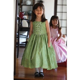 Angels Garment Green Taffeta Tie Bow Flower Girl Dress 2T-6