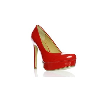 Chinese Laundry Womens Wow Soft Patent Red Patent Pumps Size 7.5