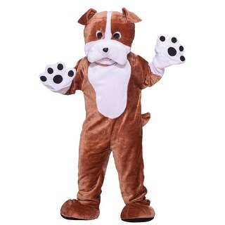 Forum Novelties Deluxe Plush Bull Dog Mascot Adult Costume - Brown - Standard