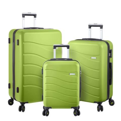 3pcs Luggage Set Hard Shell With Spinner Goodyear Wheels Integrated TSA lock - ERA
