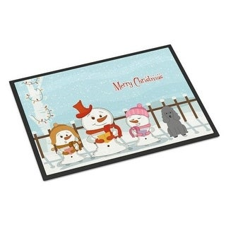 Carolines Treasures BB2399JMAT Merry Christmas Carolers Poodle Silver Indoor or Outdoor Mat 24 x 0.25 x 36 in.