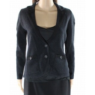 Halogen NEW Black Women's Size Medium M Two Button Cardigan Sweater