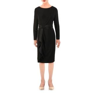 Link to Lauren Ralph Lauren Womens Naty Wear to Work Dress Gathered Ruffled - Black Similar Items in Dresses