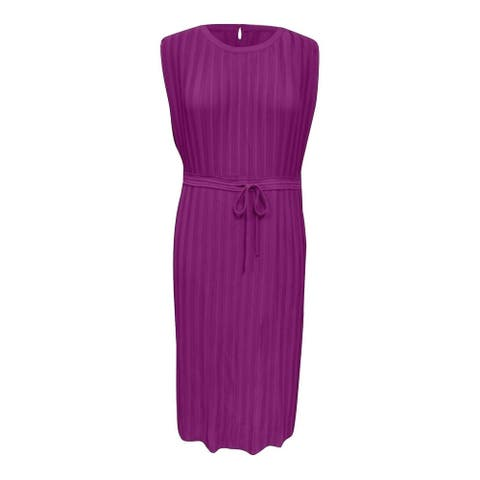 ALFANI Purple Sleeveless Tea-Length Dress XL
