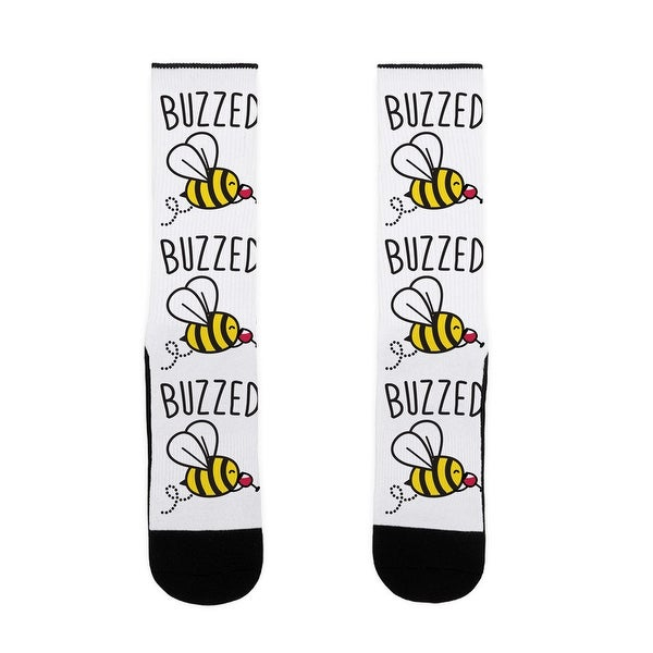 Buzzed Wine Bee US Size 7-13 Socks by LookHUMAN