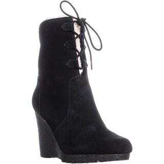 MICHAEL Michael Kors Rory Wedge Boots, Black