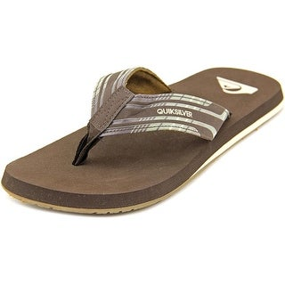 Quiksilver Monkey Wrench Print Open Toe Synthetic Thong Sandal