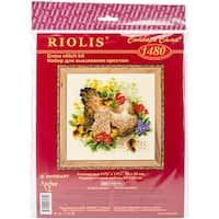 "Hen Counted Cross Stitch Kit-11.75""X11.75"" 14 Count"