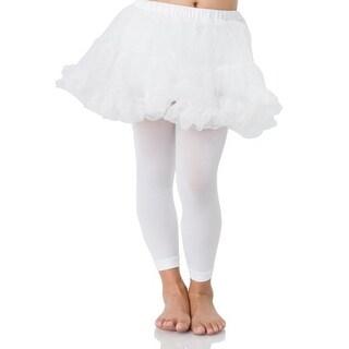 Petticoat Girl's Child Costume, White: M/L 6-9 - Pink