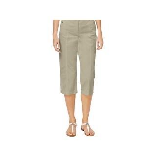 Karen Scott Womens Capri Pants Slimming Comfort Waist