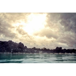 Waterscape And Sun Canvas Wall Art Photograph