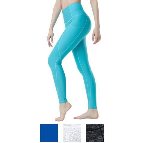 TSLA Tesla FYP54 Women's High-Waisted Ultra-Stretch Tummy Control Yoga Pants