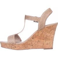Charles Charles David Law Platform Wedge Sandals - Nude