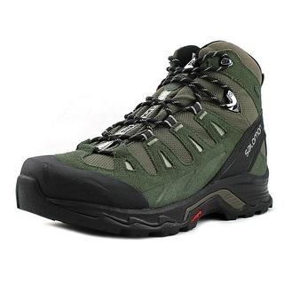 Salomon Quest Prime GTX Women  Round Toe Leather Green Hiking Shoe