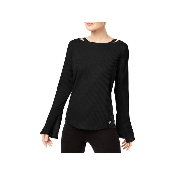 e5ec5f1b986 MICHAEL Michael Kors Womens Pullover Top Bell Sleeves Ribbed. Click to Zoom