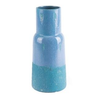 Gorgeous Short Vase In Blue