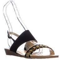 Carlos by Carlos Santana Tex Ankle Strap Sandals, Black - 7.5 us / 37.5 eu