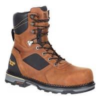 "Georgia Boot Men's Hammer HD Composite Toe Waterproof 8"" Work Boot Brown Leather"