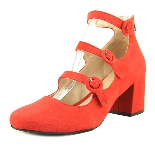 a9adf087b17 Shop Mix No 6 Deima Women Round Toe Suede Red Heels - Free Shipping ...
