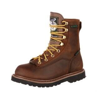 "Georgia Boot Outdoor Boy 6"" Insulated Waterproof Leather Tan G2048"
