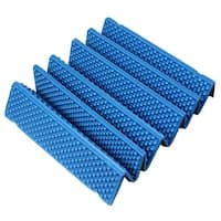 Outdoor Hiking Mountaineering Camping Picnic Tent Foldable Mat Sleeping Pad Blue