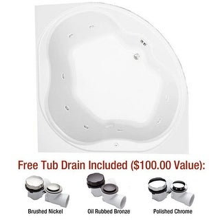 "Mirabelle MIRSAT6060LSL St. Augustine 60"" X 60"" Corner Total Massage Tub with Le - White"