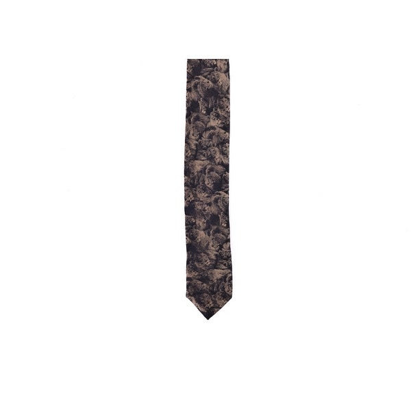 "Roberto Cavalli Black Grey Abstract Zebra Print Slim 1.5/"" Blade Tie~RTL$ 185"
