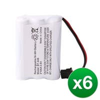 Replacement For Uniden BT446 Cordless Phone Battery (800mAh, 3.6V, Ni-MH) - 6 Pack