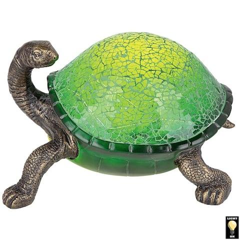 Design Toscano Nocturnal Turtle Mosaic Glass Illuminated Sculpture